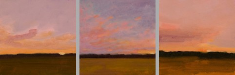 Three Pink Skies (triptych)