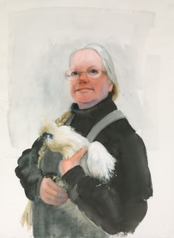 Katherine Long and Violet (watercolor)