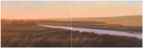 Wedge of Orange (diptych)
